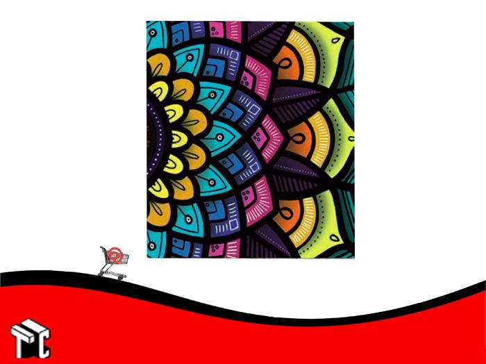 Carpeta A4 2 Anillos Cartone Mandala Metalizada 2