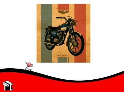 Carpeta A4 2 Anillos Cartone Moto Retro