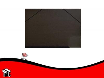Carpeta De Dibujo Fibra Negra Con Elástico 35x50 Util-of