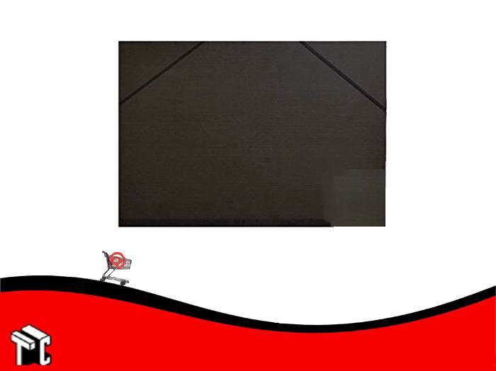 Carpeta De Dibujo Fibra Negra Con Elástico 50x70 Util-of