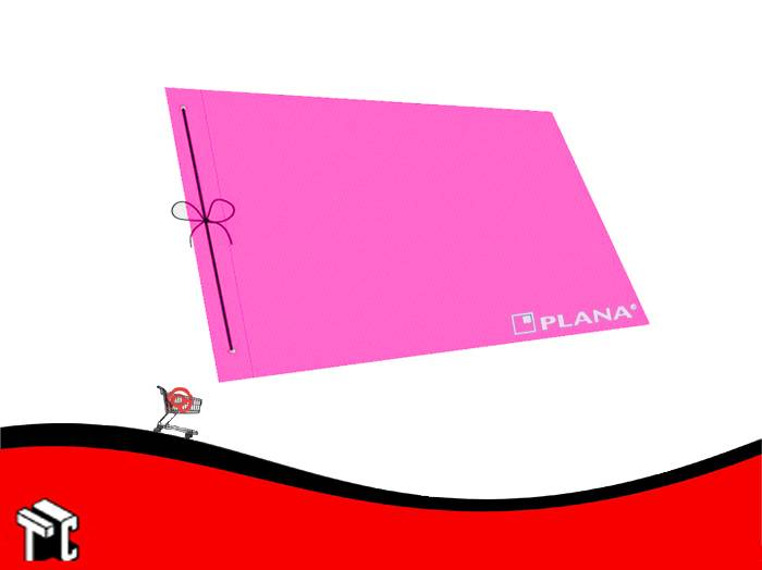 Carpeta De Dibujo Nº5 Plástica Plana Fucsia