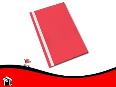 Carpeta A4 Base Opaca Tapa Transparente Util-of Rojo