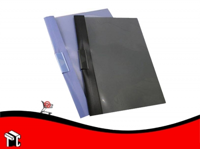 Carpeta Oficio Con Clip Deslizable Util-of Azul