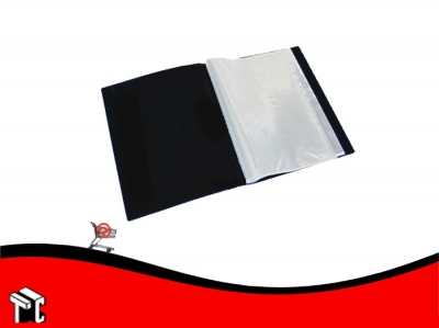 Carpeta Oficio Con 20 Folios Util-of Negro