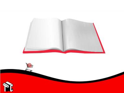 Carpeta Oficio Con 20 Folios Omega Rojo