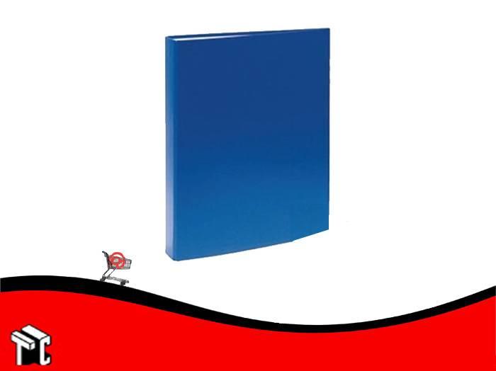 Carpeta Oficio Forrada Util-of 2x25 Azul