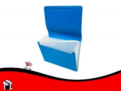 Carpeta A4 Clasificador Con Elástico Omega Azul