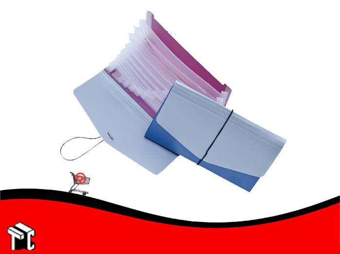 Carpeta Para Cheques Clasificadora Util-of Celeste