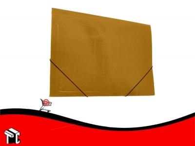 Carpeta Util-of Con Elástico 35x50 Kraft Plastificada