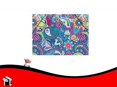 Carpeta 3 Solapas Con Elástico Arabescos