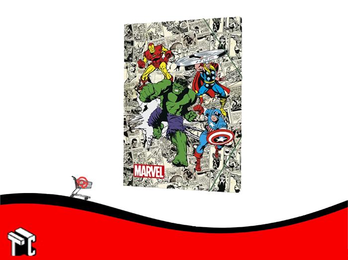 Carpeta 3 Solapas Con Elastico Marvel