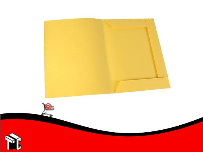Carpeta Oficio Congreso 3 Solapas Amarilla