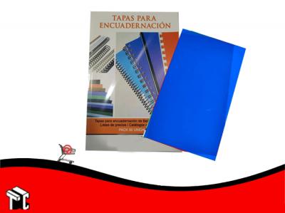 Tapas Para Encuadernar Pp Oficio Azul X50 Ud