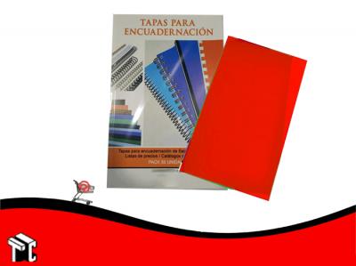 Tapas Para Encuadernar Pp Oficio Rojo X50 Ud