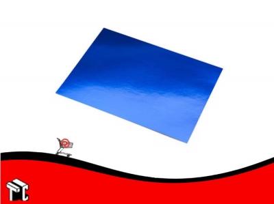 Cartulina Color Azul Metalizado
