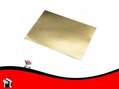 Cartulina Color Oro Metalizado