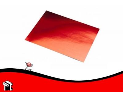 Cartulina Color Rojo Metalizado