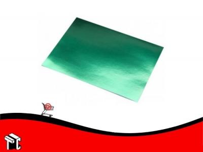 Cartulina Color Verde Metalizado