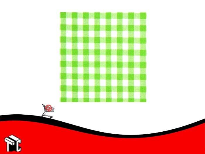 Cartulina Escolar Con Cuadros Color Verde Manzana