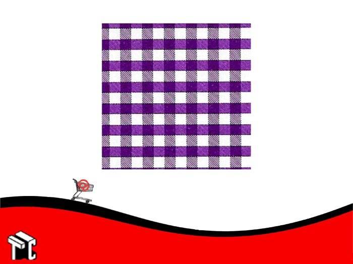 Cartulina Escolar Con Cuadros Color Violeta