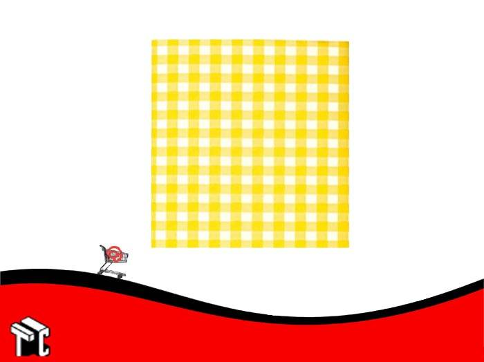 Cartulina Escolar Con Cuadros Color Amarillo