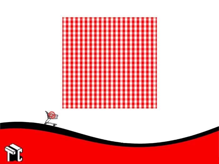 Cartulina Escolar Con Cuadros Color Rojo