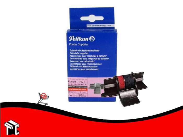 Entintador Pelikan Ir40 Negro/rojo X2