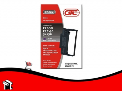 Cinta Alternativa Para Impresora Epson Erc 30/34/38 Gtc