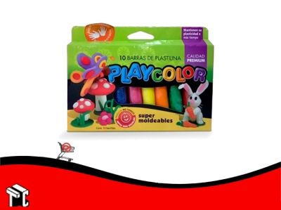 Plastilina Playcolor Barra X 10 Unidades