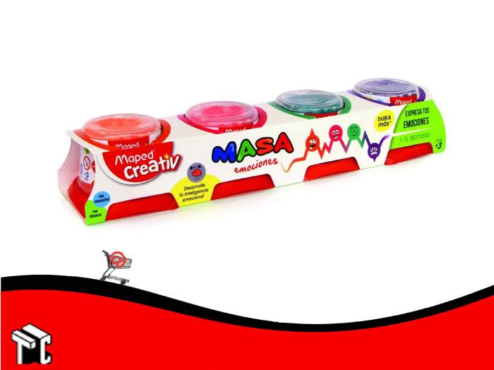 Masa Emociones Maped Creativ Fluo Colors