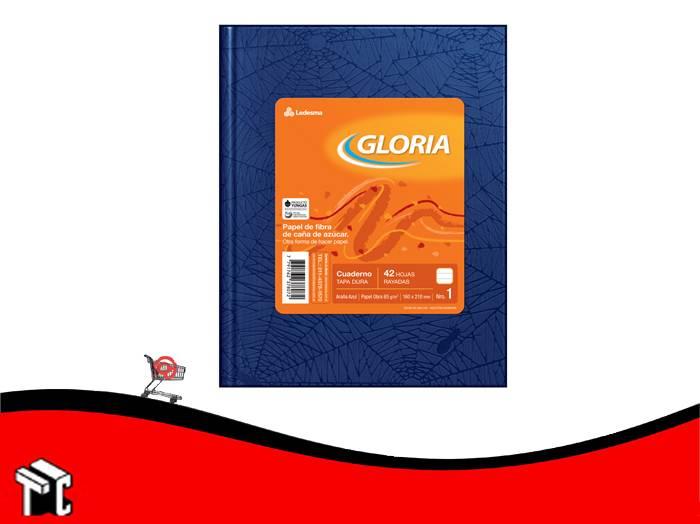 Cuaderno Araña Azul Gloria Tradicional 42 Hojas Rayadas