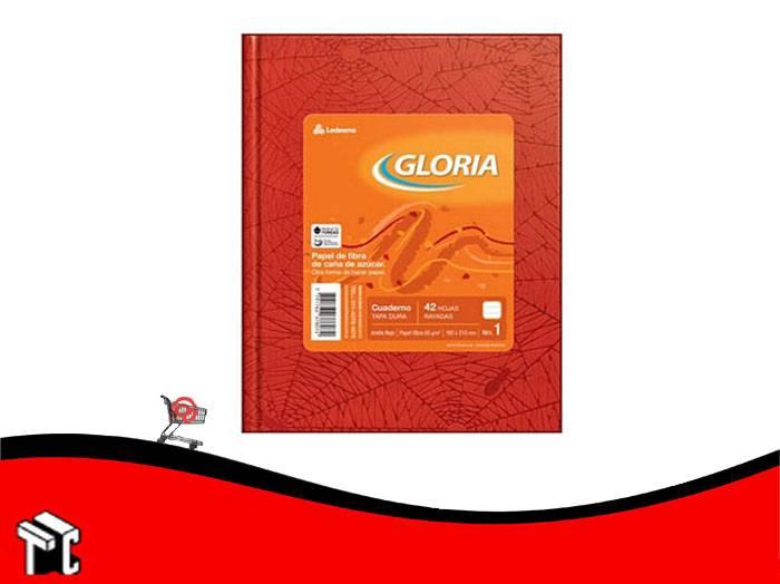 Cuaderno Araña Rojo Gloria Tradicional 42 Hojas Rayadas
