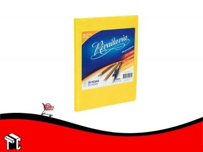 Cuaderno Araña Tapa Dura Rivadavia X 50 Hojas Ray. Amarillo