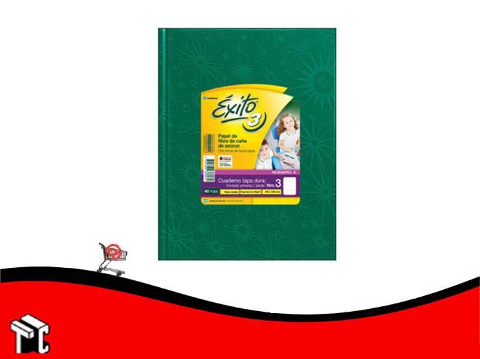 Cuaderno Araña Tapa Dura Éxito X 48 Hojas Rayado Verde  Núm. 3