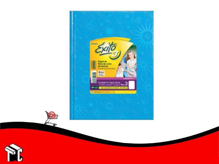 Cuaderno Araña Tapa Dura Éxito X 48 Hojas Rayado Turquesa Núm. 3