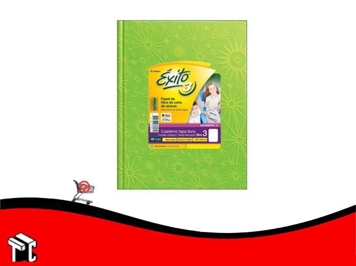 Cuaderno Araña Tapa Dura Éxito X 48 H Ray Verde Manzana  N.3