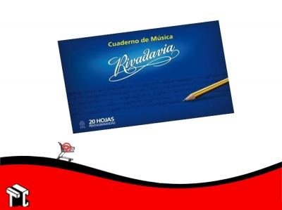 Cuaderno De Musica Tapa Flexible Rivadavia