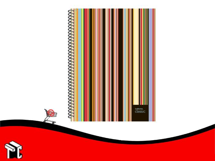 Cuaderno Con Espiral 16x21 Ledesma Clasic 120 Hojas Rayado