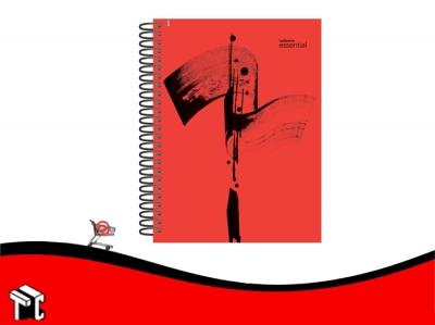 Cuaderno Con Espiral 16x21 Ledesma Essential 120h Ray Rojo