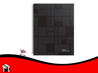 Cuaderno Con Espiral 16x21 Ledesma Executive 120h Ray Neg.