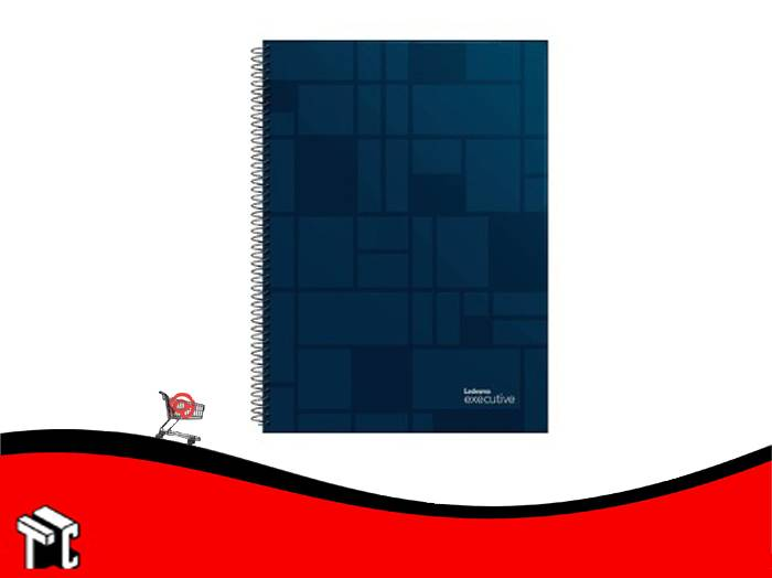 Cuaderno Con Espiral 22x29 Ledesma Executive 84 Hojas Rayado Azul