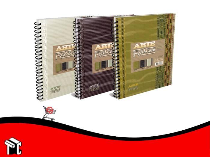 Cuaderno Con Espiral 16x21 Arte Raices 120 Hojas Cuad.
