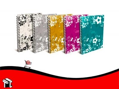 Cuaderno Arte Bloom 80 Hojas Rayadas