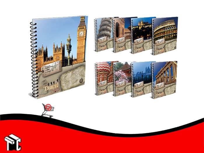 Cuaderno Con Espiral 16x21 Apuntes Travel 80 Hojas Rayado