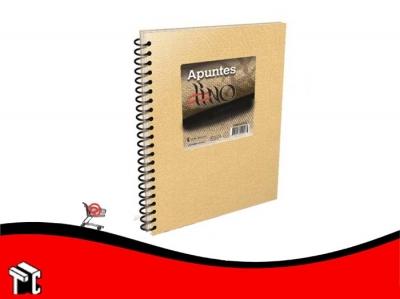 Cuaderno Con Espiral 16x21 Apuntes Lino 80 Hojas Rayado