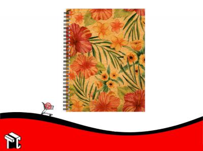 Cuaderno Espiral 16x21 Tapa Dura Nature Kraft X96 Hj C