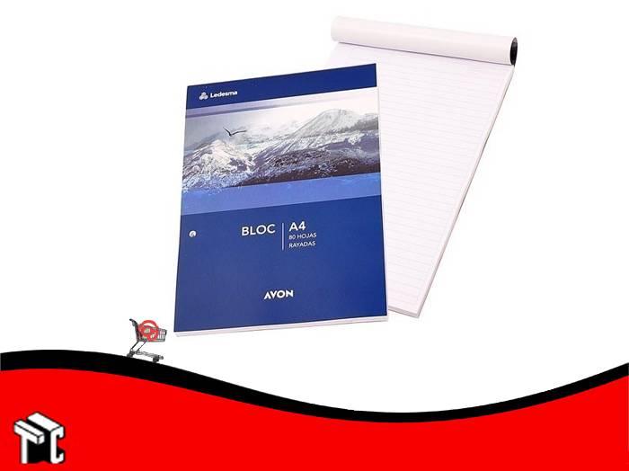 Block Ledesma Avon A4 80h Rayado