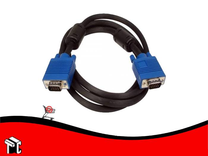 Cable Monitor Vga Con Filtro 1.5 Mts 41f Gtc