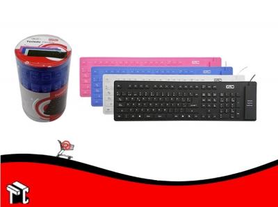 Teclado Flexible Silicona Gtc Kbg-140