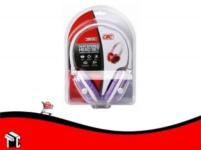 Auricular Con Micrófono Gtc Violeta Hsg-152